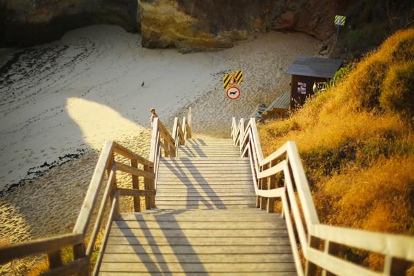Escalier plage algarve