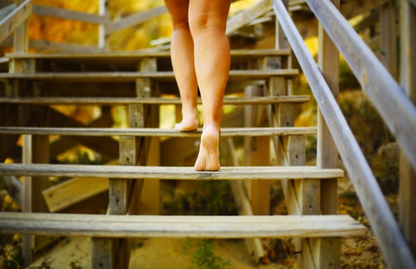 Escalier d'une plage d'Algarve