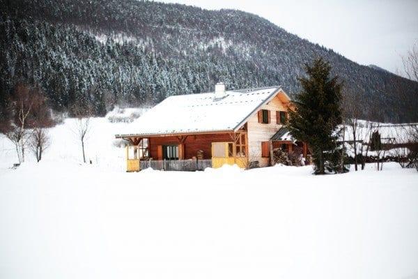 vercors chalet neige