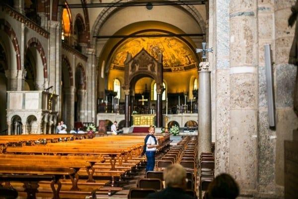 intérieur Basilique Saint - Ambroise