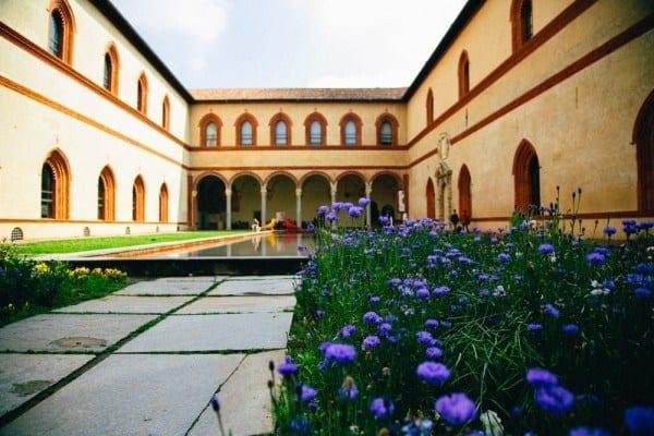 Castello Sforzesco vue interieure