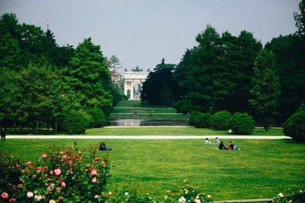 jardin sempione arche napoleon