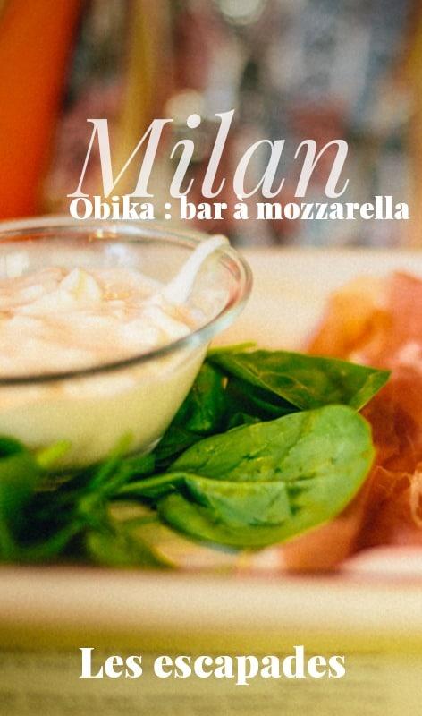 Milan Obika, Bar à mozzarella