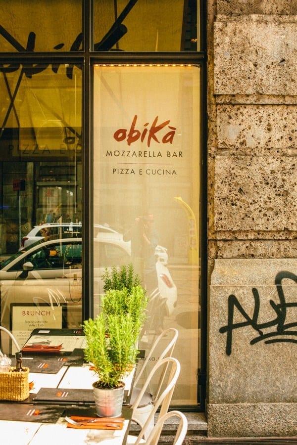 obika restaurant milan