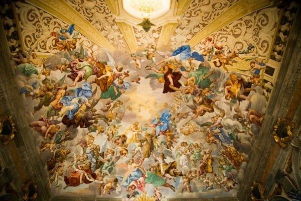 sacro monte plafond chapelle