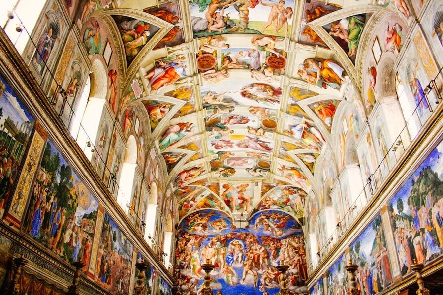 a la d 233 couverte de la chapelle sixtine 224 rome