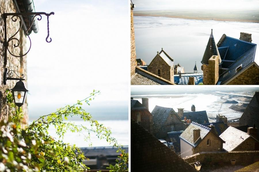 Vue sur le village du Mont Saint Michel