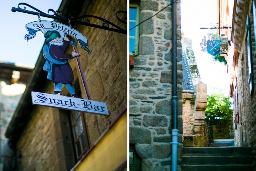 Les ruelles du Mont Saint Michel