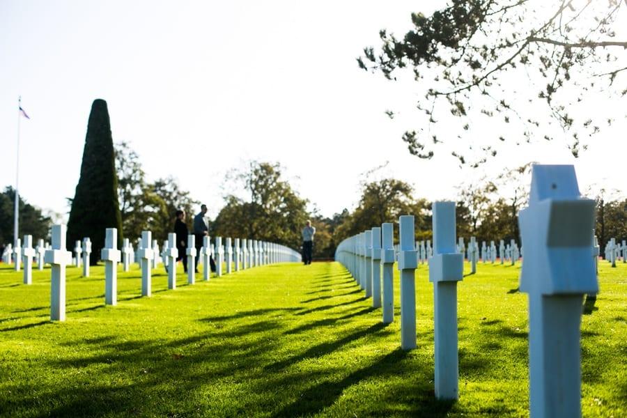 tombes du cimetière americain