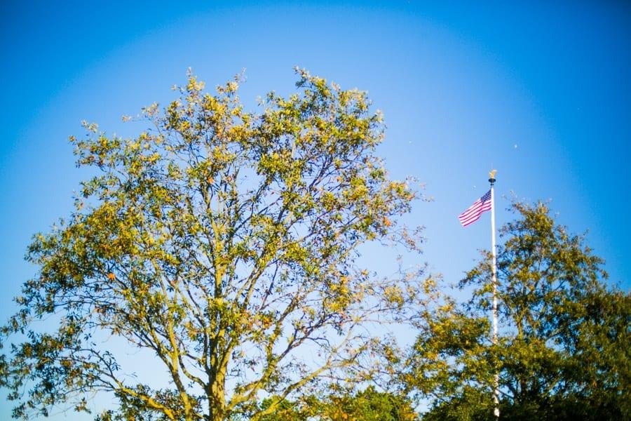 drapeau cimetiere americain