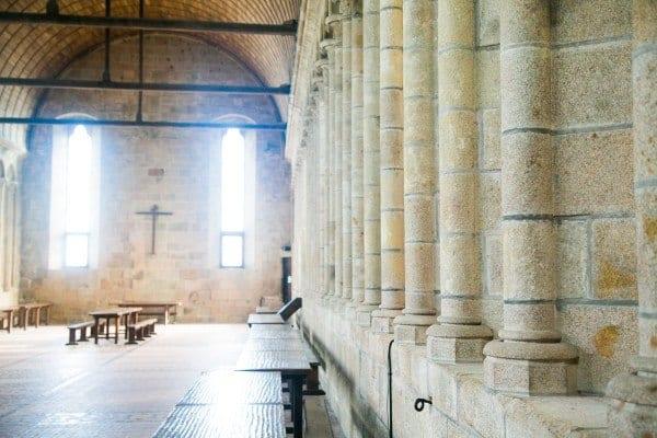 La salle de efectoire mont saint michel