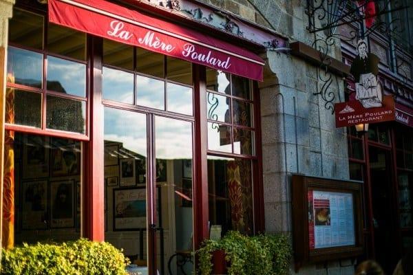 restaurant la mere poulard vitrine