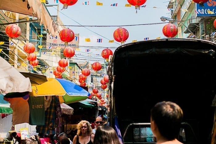 Les guirlandes de China Town, à Bangkok