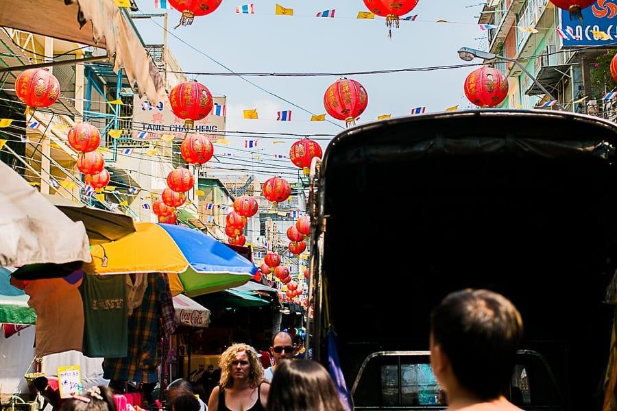 Les guirlandes de China Town à Bangkok