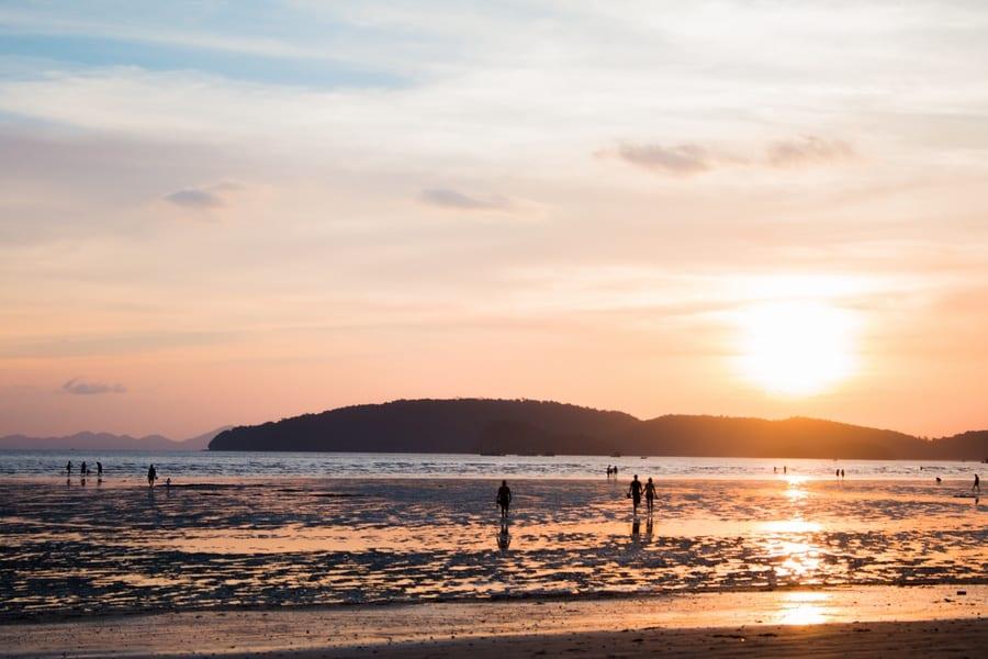 coucher soleil thailande
