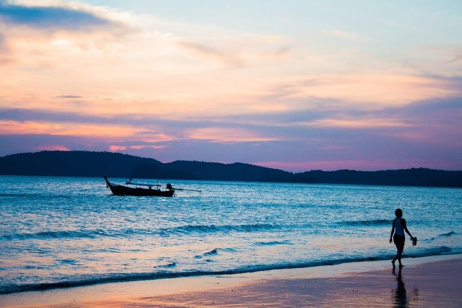 coucher soleil krabi ao nang