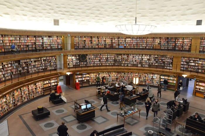 """Bibliothèque """"Stadbibliotek"""" de Stockholm"""
