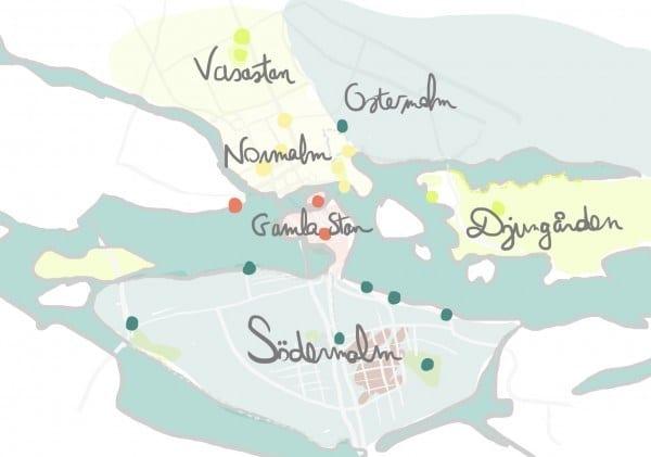 Quartiers de Stockholm