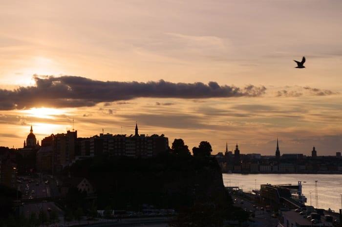 stockholm coucher de soleill