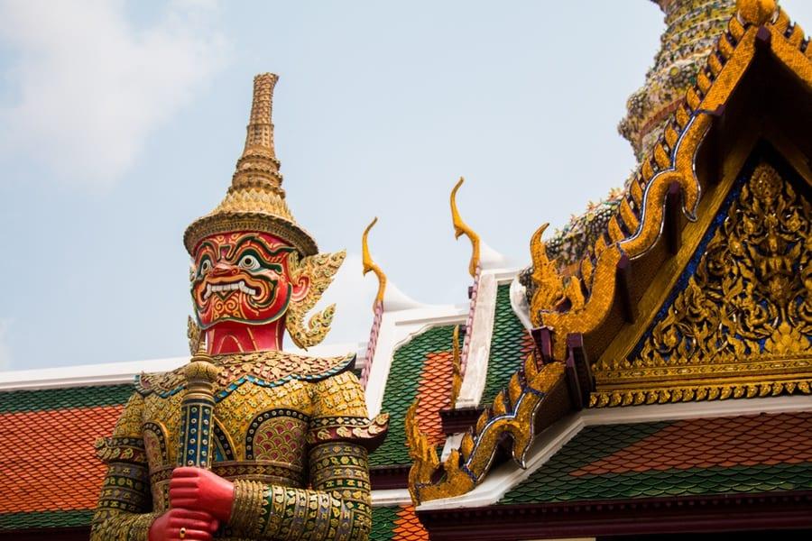 La statue du Grand Palais à Bangkok