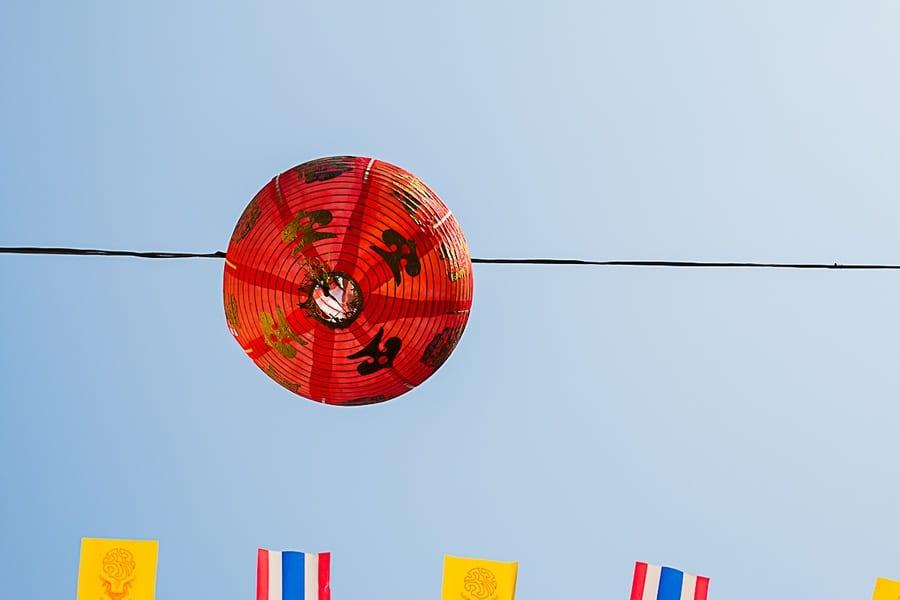 Les décorations de China Town à Bangkok