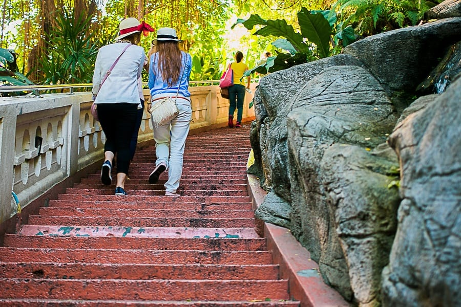 L'escalier du Golden Mount à Bangkok