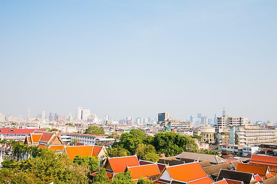 Vue depuis le Golden Mount sur Bangkok