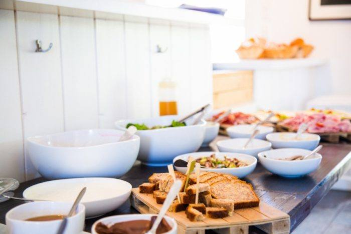 Le buffet brunch de la beach house
