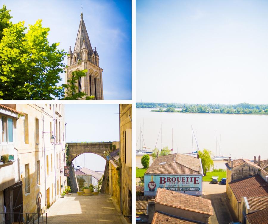 Le centre ville de Bourg en Gironde