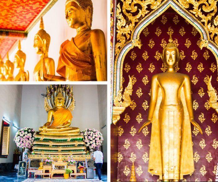 Des dizaines de statues du bouddha au Wat Pho