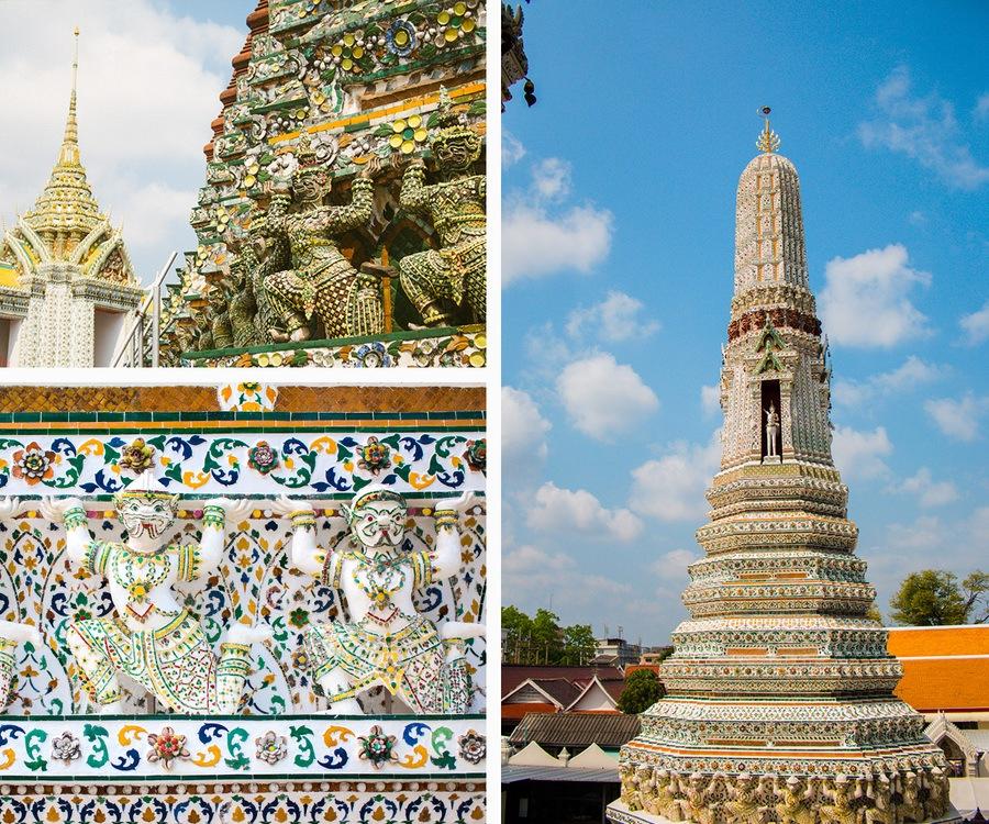 Les statues du temple