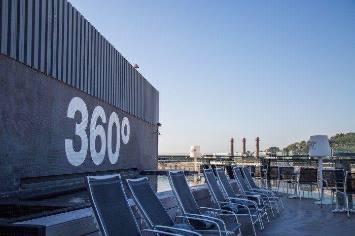 Vue à 360° sur le toit du Barcelo Raval