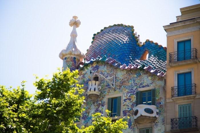 Casa Batlò gaudi toit