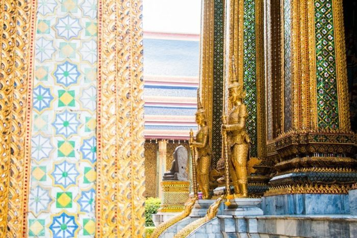 statue du palais royal de Bangkok