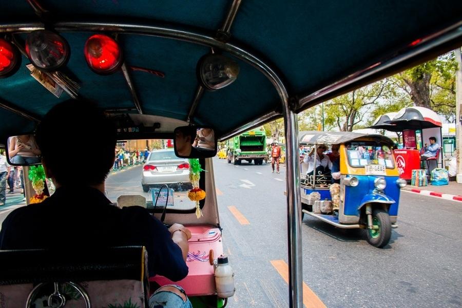 Circuit en Tuk Tuk à Bangkok