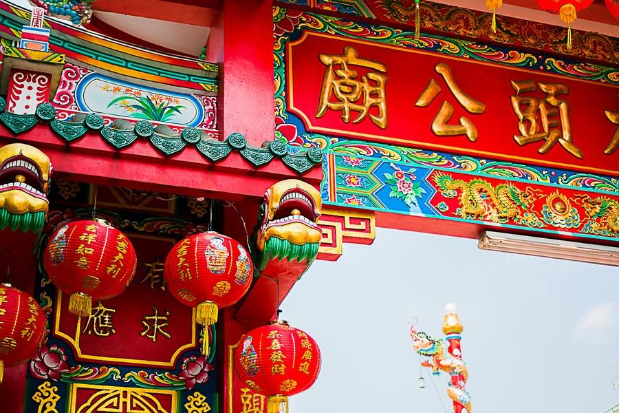 La décoration du quartier chinois de Bangkok