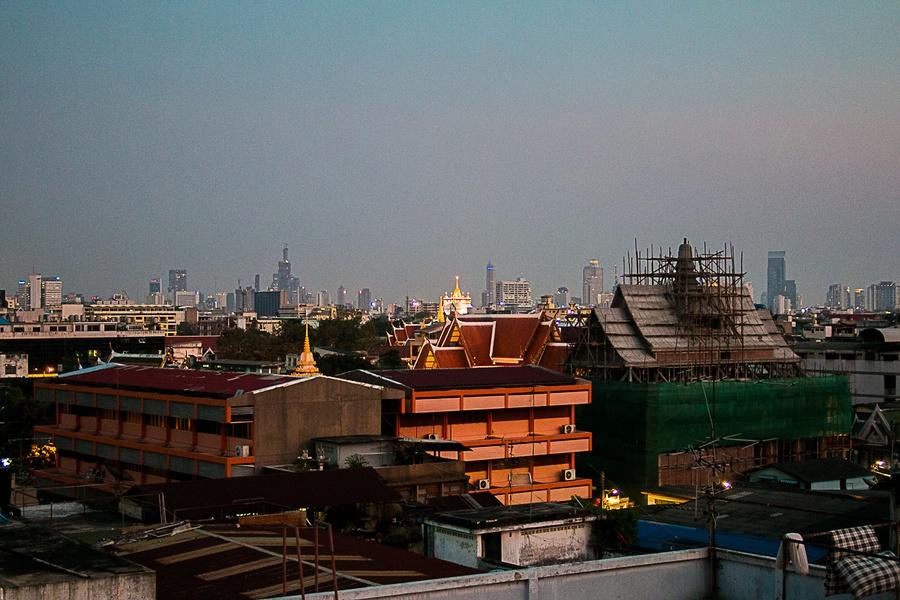 La vue depuis l'hôtel Casa Nithra de Bangkok