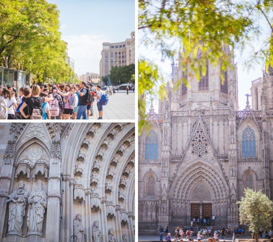 portique cathédrale sainte croix barcelone