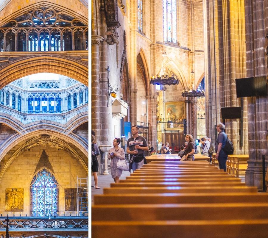 portique cathédrale sainte croix de barcelone