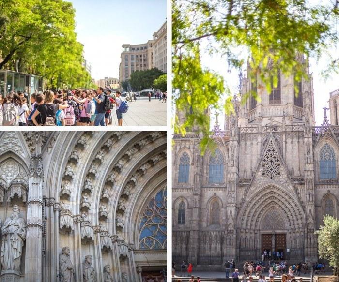 Visite de la cathédrale de Barcelone
