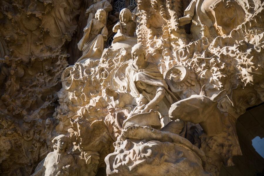 Les bas reliefs de la Sagrada Familia
