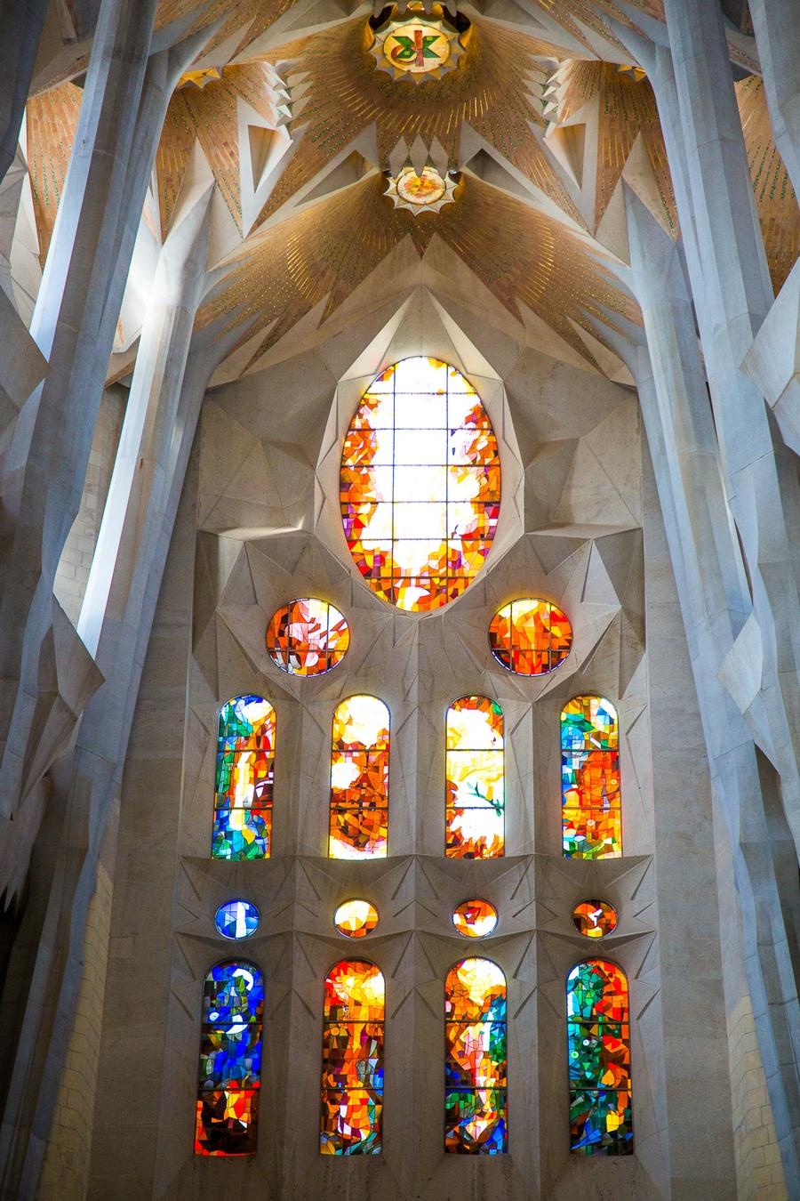 Les vitraux de la Sagrada Familia