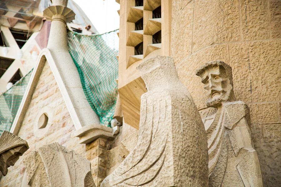 Statue de la Sagrada Familia à Barcelone
