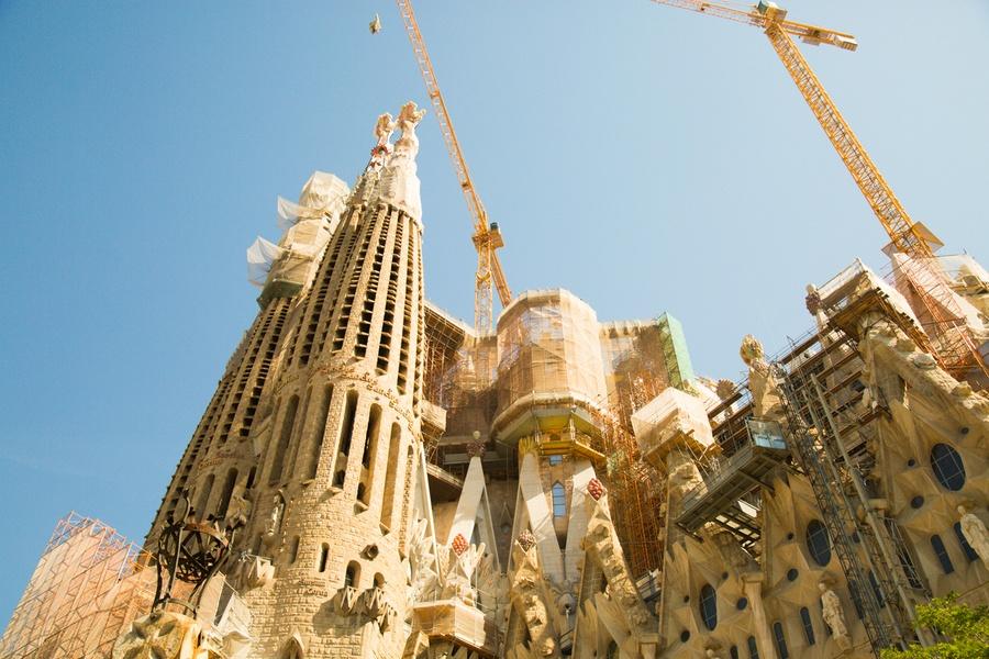Les travaux de la Sagrada Familia