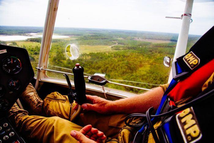 Le pilote d'hydravion