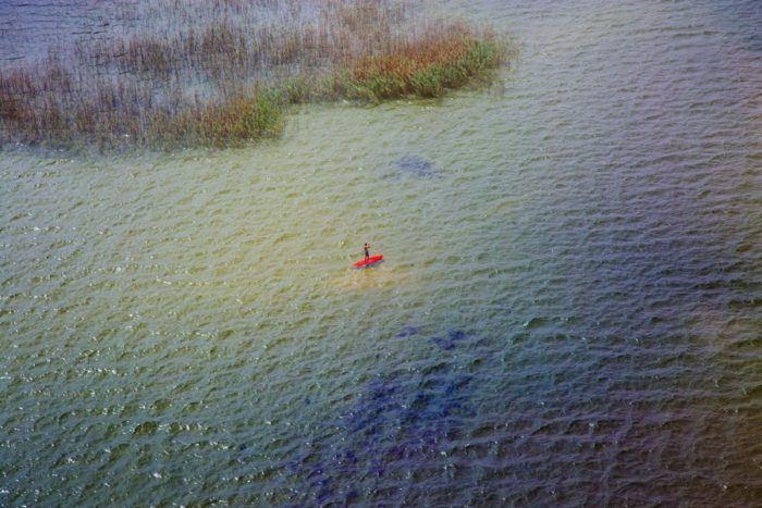 Stand up paddle sur le lac de Biscarrosse