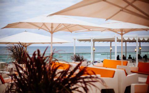 La terrasse du Grand Hôtel de la plage
