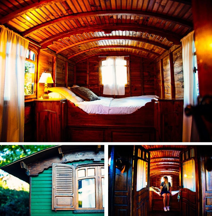 image roulotte hotel des pins les escapades carnets. Black Bedroom Furniture Sets. Home Design Ideas