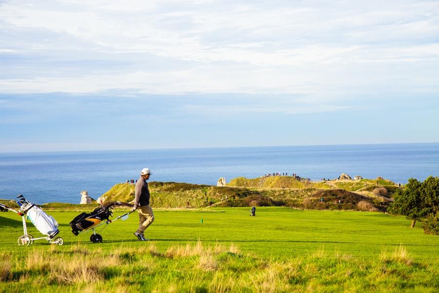 Le golf des falaises d'Etretat