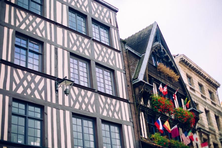 Les maisons à colombages de la place du Vieux Marché